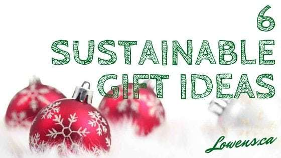 6 Sustainable Gift Ideas BLOG POST By Lowen's Natural Skin Care LOWENS.CA #canadiangreenbeauty #naturalskincare