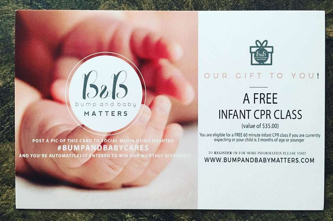 Bump And Baby Matters Offers Free Infant CPR
